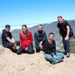 Společná vrcholová pod Roque Nublo