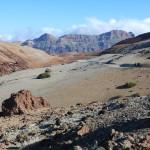 Cesta mezi Montaña Blanca a Montaña Rajada