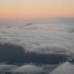 Vrchol Teide v moři mraků